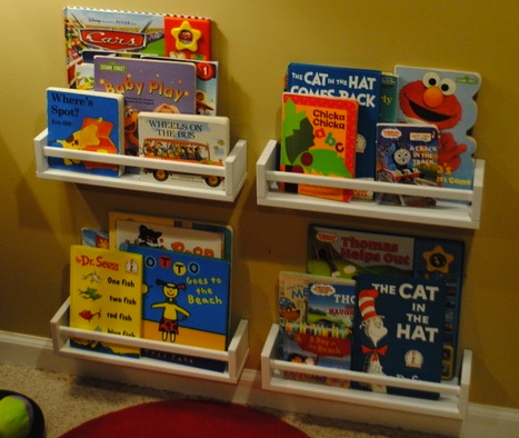 Spice rack book storage