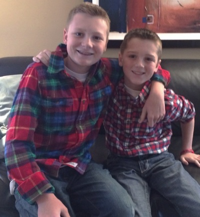 Julie's boys: Caden, 12, and Carter, 9