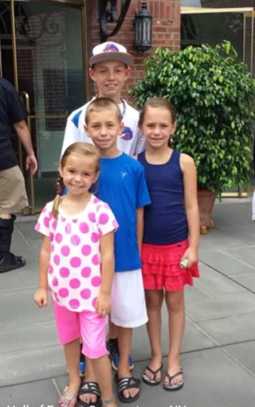 Justine's children: Mason, 13, Stone, 9, Meadow, 7, Harper, 5