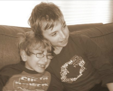 Evan with his brother, Noah