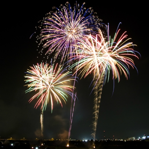 Photo of 3 large fireworks