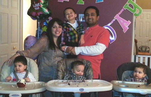 Dayna Datta with her husband and 4 kids