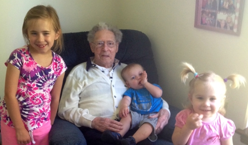 My girls and their grandpa