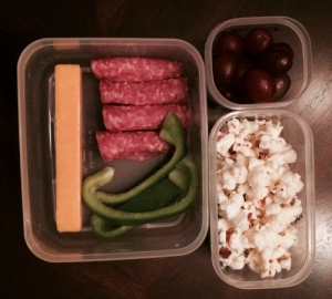 Healthy food in lunch containers