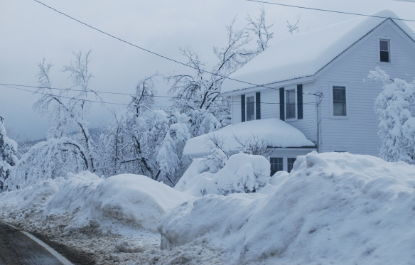 Photo of severe snowstorm