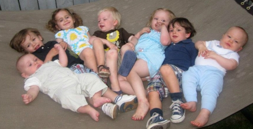 Photo of a group of kids lying down