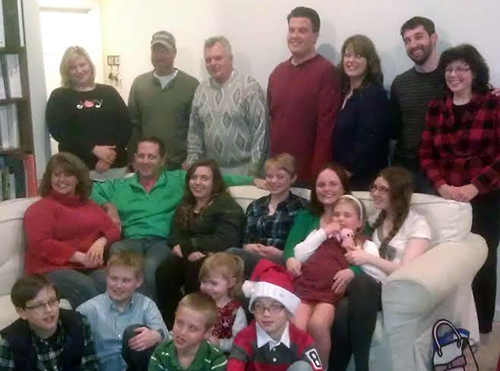 Large family at Christmas