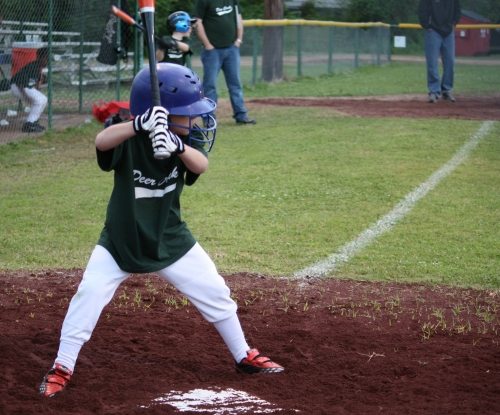 Young boy at bat