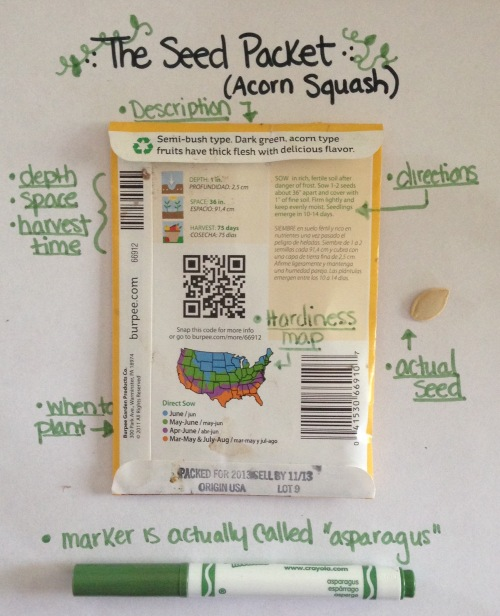 sample seed packet