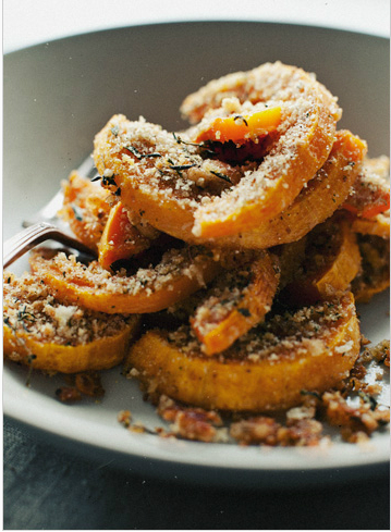 crusted buttermilk squash slices