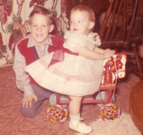 My favorite picture of my brother and me on Christmas Day.