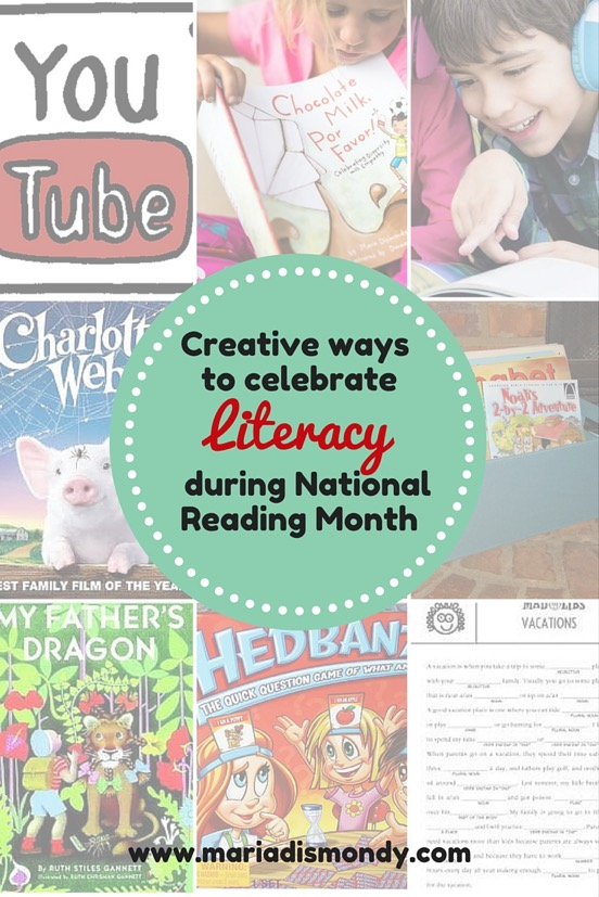 A photo sample of creative ways to celebrate literacy