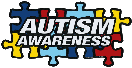 Autism awareness puzzle pieces graphic