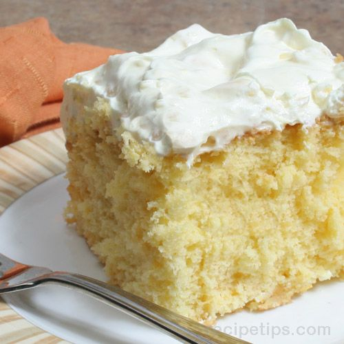 Closeup of orange pineapple cake