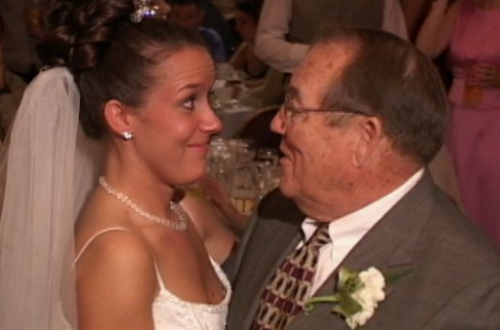 bride dancing with her grandpa