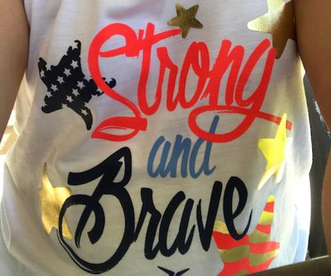 strong and brave girl's t-shirt