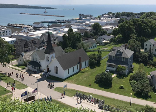 view on Mackinac Island